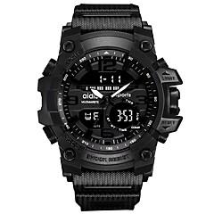 お買い得  メンズ腕時計-男性用 スポーツウォッチ デジタル クロノグラフ付き 夜光計 クール ラバー バンド ハンズ デジタル カジュアル ファッション ブラック - レッド ブルー ローズゴールド