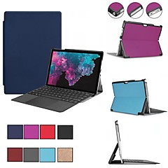 お買い得  タブレット用ケース-ケース 用途 Microsoft Surface Go Surface Pro 3/4/5 耐衝撃 / スタンド付き / 磁石バックル フルボディーケース ソリッド ハード PUレザー のために Surface Pro 3/4/5