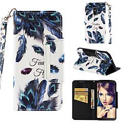 Недорогие Чехлы и кейсы для LG-Кейс для Назначение LG LG Stylo 4 Кошелек / Бумажник для карт / Флип Чехол Перья Твердый Кожа PU для LG Stylo 4