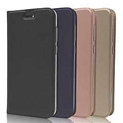 お買い得  その他のケース-ケース 用途 Asus Zenfone 4 ZE554KL / Zenfone 4 Selfie ZD552KL カードホルダー / スタンド付き / フリップ フルボディーケース ソリッド ハード PUレザー のために Asus Zenfone 4 ZE554KL / Asus Zenfone 4 Selfie ZD553KL / Asus Zenfone 4 Selfie ZD552KL