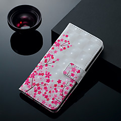 abordables Galaxy S6 Carcasas / Fundas-Funda Para Samsung Galaxy S9 Plus / S9 Soporte de Coche / con Soporte / Flip Funda de Cuerpo Entero Flor Dura Cuero de PU para S9 / S9 Plus / S8 Plus
