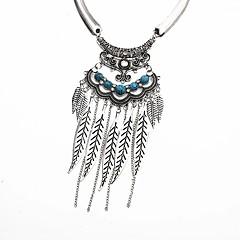 preiswerte Halsketten-Damen Türkis Retro Anhängerketten - Retro Gold, Silber 38 cm Modische Halsketten Schmuck 1pc Für Alltag