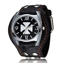 お買い得  メンズ腕時計-男性用 ブレスレットウォッチ デジタル カジュアルウォッチ クール レザー バンド アナログ/デジタル ヴィンテージ カジュアル ブラック / 白 / ブラウン - ホワイト ブラック Brown