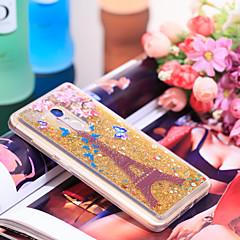 Недорогие Чехлы и кейсы для Xiaomi-Кейс для Назначение Xiaomi Redmi Note 4 Защита от удара / Сияние и блеск Кейс на заднюю панель Эйфелева башня / Сияние и блеск Мягкий ТПУ для Xiaomi Redmi Note 4