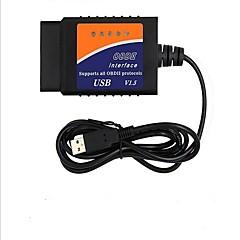 Недорогие OBD-ELM327 автомобиля диагностический инструмент тестирования массовых продаж БДС USB высокого качества