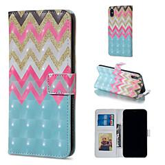 Недорогие Кейсы для iPhone 7-Кейс для Назначение Apple iPhone XR / iPhone XS Max Кошелек / Бумажник для карт / со стендом Чехол Полосы / волосы Твердый Кожа PU для iPhone XS / iPhone XR / iPhone XS Max