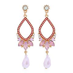 preiswerte Ohrringe-Damen Kubikzirkonia Tropfen-Ohrringe - Birne Retro, Elegant Weiß / Rosa / Marineblau Für Hochzeit Party / Abend