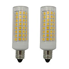 お買い得  LED 電球-2pcs 5 W 460 lm E11 LEDコーン型電球 102 LEDビーズ SMD 2835 温白色 / クールホワイト 110-130 V