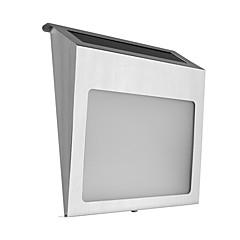 abordables Aplique para Exterior-Luz solar del número de la casa de la lámpara de la placa de la puerta del acero inoxidable 2 leds 1pc