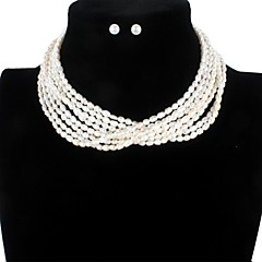 cheap Beads & Jewelry Making-Freshwater Pearl Modern Style Jewelry Set - Pearl Blessed Simple Style, Fashion, Elegant White For Party Event / Party Women's
