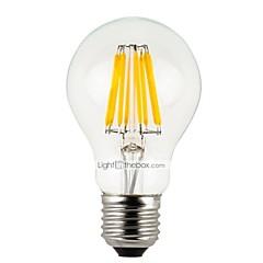お買い得  LED 電球-6本 4 W 300 lm E26 / E27 フィラメントタイプLED電球 A60(A19) 4 LEDビーズ ハイパワーLED 調光可能 温白色