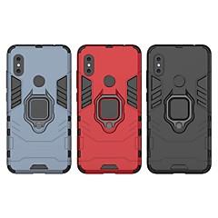 Недорогие Чехлы и кейсы для Xiaomi-Кейс для Назначение Xiaomi Xiaomi Redmi Note 6 Защита от удара / Кольца-держатели Кейс на заднюю панель Однотонный / броня Твердый ПК для Xiaomi Redmi Note 6