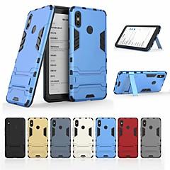 Недорогие Чехлы и кейсы для Xiaomi-Кейс для Назначение Xiaomi Xiaomi Mi Max 3 Защита от удара / со стендом Кейс на заднюю панель Однотонный / броня Твердый ПК для Xiaomi Mi Max 3
