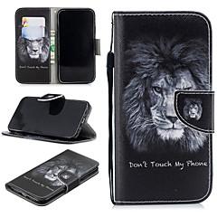 Недорогие Кейсы для iPhone-Кейс для Назначение Apple iPhone XR Кошелек / Бумажник для карт / Защита от удара Чехол Лев Твердый Кожа PU для iPhone XR
