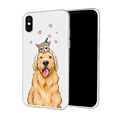 Недорогие Кейсы для iPhone-Кейс для Назначение Apple iPhone XR / iPhone XS Max С узором Кейс на заднюю панель С собакой Мягкий ТПУ для iPhone XS / iPhone XR / iPhone XS Max
