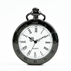 preiswerte Damenuhren-Herrn Damen Taschenuhr Quartz Schwarz Armbanduhren für den Alltag Cool Analog Freizeit Modisch - Schwarz