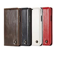 Недорогие Чехлы и кейсы для Galaxy Note 5-Кейс для Назначение SSamsung Galaxy Note 9 / Note 8 Кошелек / Бумажник для карт / со стендом Чехол Однотонный / Плитка Твердый Кожа PU для Note 9 / Note 8 / Note 5