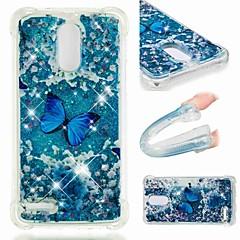 Недорогие Чехлы и кейсы для LG-Кейс для Назначение LG LG Stylo 4 / G7 Защита от удара / Движущаяся жидкость / Прозрачный Кейс на заднюю панель Бабочка / Сияние и блеск Мягкий ТПУ для LG Q Stylus / LG V40 / LG V30