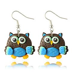 preiswerte Ohrringe-Damen Skulptur Tropfen-Ohrringe - Zeichentrick Schmuck Orange / Blau Für Geschenk Alltag Strasse 1 Paar