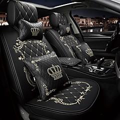 preiswerte KFZ Innenausstattung-ODEER Autositzbezüge Kopfstütze & Taille Kissen Kits Schwarz / Rosa / Black Gold / Schwarz / Weiß PU-Leder Normal Für Universal Alle Jahre Alle Modelle
