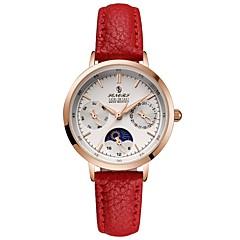 preiswerte Damenuhren-Damen Armbanduhr Japanisch Japanischer Quartz Schwarz / Braun / Beige 30 m Armbanduhren für den Alltag Analog Modisch Minimalistisch - Weiß Schwarz Blau Zwei jahr Batterielebensdauer