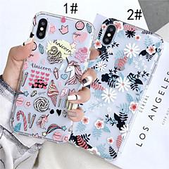Недорогие Кейсы для iPhone 7 Plus-Кейс для Назначение Apple iPhone XR / iPhone XS Max Прозрачный / С узором Кейс на заднюю панель Цветы Мягкий ТПУ для iPhone XS / iPhone XR / iPhone XS Max