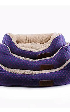 رخيصةأون -مرتبة السرير الأسرّة بطانيات السرير قماش حيوانات أليفة الحصير والوسادات أرجواني بني أزرق