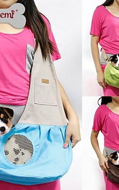 رخيصةأون -قط كلب الحاملة حقائب تحمل على الظهر وللسفر حقيبة الكتف قماش حيوانات أليفة سلال المحمول متنفس أخضر أزرق زهري
