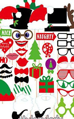 رخيصةأون -1 غطاء (39pcs) مؤذ المواد عيد الميلاد مهرجان البنود مهرجان الدعائم فيلم
