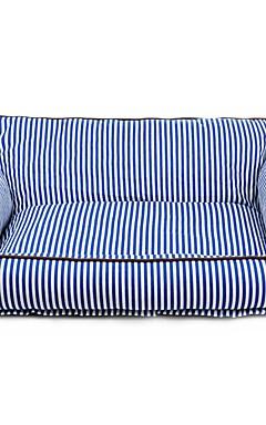رخيصةأون -كلاب قطط مرتبة السرير الأسرّة أريكة وسادة بطانيات السرير صالة أريكة قماش حيوانات أليفة الحصير والوسادات مخطط المحمول الدفء ناعم أحمر أزرق