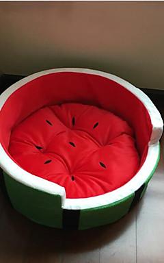 رخيصةأون -كلاب قطط مرتبة السرير أسرة بطانيات السرير قماش حيوانات أليفة الحصير والوسادات فاكهة المحمول ناعم أخضر