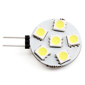 billige LED-lamper med G-sokkel-2 W LED-spotlys 2700 lm G4 6 LED Perler SMD 5050 Naturlig hvid 12 V / #