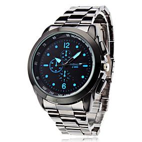 tanie 70% TANIEJ i więcej-Męskie Zegarek na nadgarstek Kwarc Srebrny Na codzień Analog Wisiorek Klasyczny - Biały Czarny