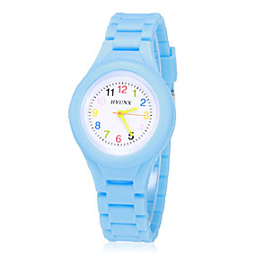 cheap Kids' Watches-Boys' Girls' Wrist Watch Quartz Silicone Blue / Red / Green Analog Vintage Casual Fashion - Green Blue Pink