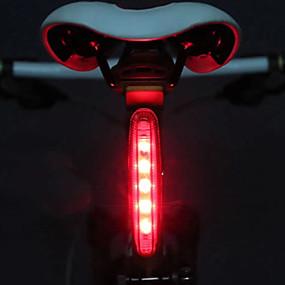 tanie Sport i lifestyle-LED Światła rowerowe Tylna lampka rowerowa światła bezpieczeństwa Tylne światła Kolarstwo Lampka LED AAA Bateria Kolarstwo / Rower - Księżyc / IPX-4