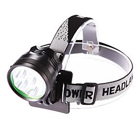 voordelige Sport & Buiten accessoires-Hoofdlampen Fietskoplamp LED LED 7 emitters 3500 lm 3 Verlichtings Modus inklusive Batterie und Ladegerät Waterbestendig Verstelbare focus Kamperen / wandelen / grotten verkennen Dagelijks gebruik