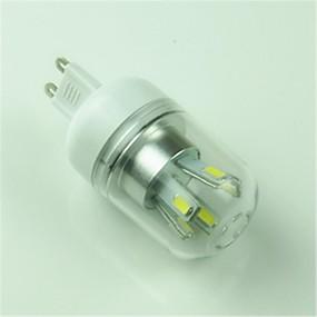 abordables Luces LED de Doble Pin-1pc 4.5 W Bombillas LED de Mazorca 6000-6500 lm G9 T 10 Cuentas LED SMD 5730 Decorativa Blanco Fresco 85-265 V