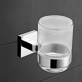 abordables Gadgets de Baño-Soporte para Cepillo de Dientes Cool Moderno Latón 1pc - Baño / Baño del hotel Cepillo de dientes y accesorios Colocado en la Pared