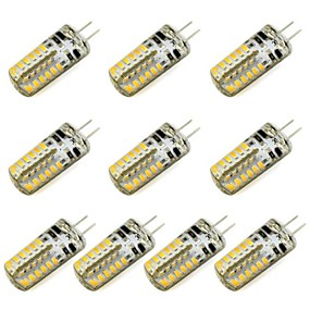 abordables Luces LED de Doble Pin-10pcs 3 W Luces LED de Doble Pin 260 lm G4 48 Cuentas LED SMD 3014 Blanco Cálido Blanco Fresco 12 V / Cañas