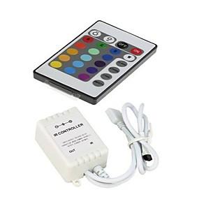 Недорогие RGB контроллеры-zdm dc12v 24-клавишная светодиодная полоса и пульт дистанционного управления с пультом управления для 3528 5050 smd rgb led strip lights