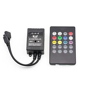 Недорогие RGB контроллеры-20 клавиш музыки и пульта дистанционного управления для прокладки полосы пропускания rgb (12v 3x2a)