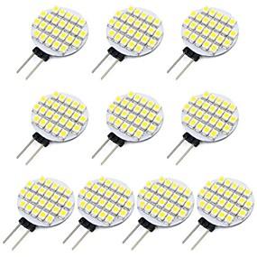 abordables Luces LED de Doble Pin-10pcs 1.5 W Luces LED de Doble Pin 118 lm G4 24 Cuentas LED SMD 3528 Blanco Cálido Blanco Fresco 12 V / Cañas