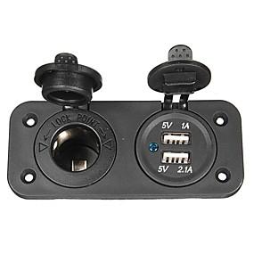 voordelige Motor- & ATV-onderdelen-autolader socket 12v usb adapter voor motorfiets& auto