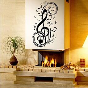 Χαμηλού Κόστους Διακοσμητικά αυτοκόλλητα-Μόδα Σχήματα Μουσική Αυτοκολλητα ΤΟΙΧΟΥ Αεροπλάνα Αυτοκόλλητα Τοίχου Διακοσμητικά αυτοκόλλητα τοίχου, Βινύλιο Αρχική Διακόσμηση Wall Decal