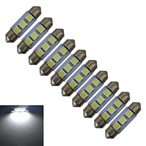 Недорогие Прочие светодиодные лампы-jiawen 36mm 0.5w 60lm автомобильные лампочки 3leds smd 5050 чтение светлый холодный белый dc 12v