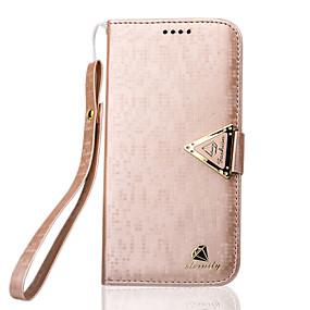 levne Galaxy S pouzdra / obaly-Carcasă Pro Samsung Galaxy Samsung Galaxy pouzdro Pouzdro na karty / se stojánkem / Flip Celý kryt Jednobarevné PU kůže pro S7 edge / S7 / S6 edge plus