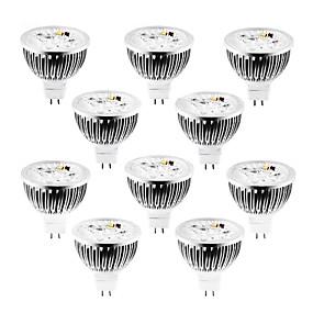 tanie Grupowe zakupy-10 szt. 4 W 320 lm MR16 Żarówki punktowe LED 4 Koraliki LED LED wysokiej mocy Przygaszanie Ciepła biel / Zimna biel / Naturalna biel 12 V / ROHS