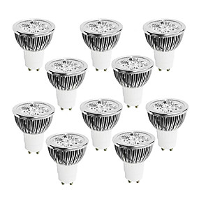 olcso Professzionális világítás-10pcs 4 W 400-450 lm GU10 LED szpotlámpák 4 LED gyöngyök Nagyteljesítményű LED Tompítható Meleg fehér / Hideg fehér / Fehér 220-240 V / 10 db. / RoHs