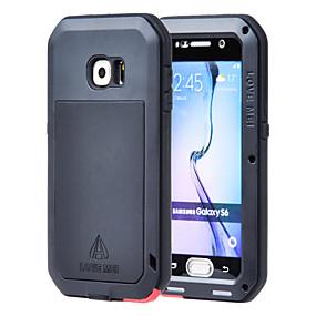 halpa Galaxy S -sarjan kotelot / kuoret-Lovemei Etui Käyttötarkoitus Samsung Galaxy Samsung Galaxy kotelo Vesi / Dirt / Shock Proof Suojakuori Panssari Metalli varten S6