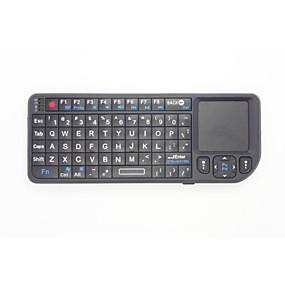 billige Air Mus & Fjernbetjeninger-2 i 1 Mini størrelse med en håndflade 2,4 g trådløst tastatur og mus combo med touchpad for google android tv box smarte pc